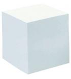 Bloc cube encollé - 9 x 9 x 9 cm - 90 g - blanc