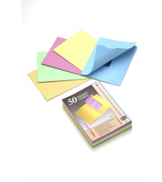 Lot de 50 chemises 2 rabats EXACOMPTA Super - 210 g - coloris pastels assortiment