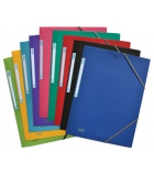 Lot de 10 chemises polypro 3 rabats élastiques - 24 x 32 cm - dos 3 cm