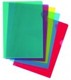 Boîte de 100 pochettes coin grainées polypro - incolore