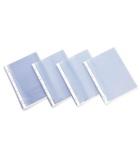 Lot de 100 pochettes perforées polypro transparent lisses - 100 microns - A4