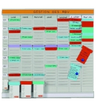 Planning compact multiusages NOBO Office planner -semainier