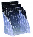 Présentoir de comptoir Blue Line 4 cases - pour A4