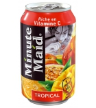 Pack de 24 canettes MINUTE MAID - jus tropical - 33 cl