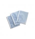 Paquet de 500 pochettes perforées polypro grainées transparentes économiques