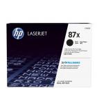 Cartouche d'impression laser noire HP 18000 pages - CF287X - 87X