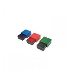 Kit 3 cassettes d'encrage TRODAT pour tampons récompenses - bleu, rouge et vert