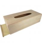 Boîte à mouchoirs en bois à décorer