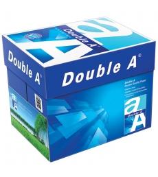 Carton de 5 ramettes de papier 500 feuilles DOUBLE A - A4 - 80 g - blanc