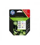 Pack de 4 cartouches jet d'encre 2 noires + 2 tricolores HP 2x825 + 2x1000 pages - 932XL 933XL