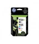 Pack de 4 cartouches jet d'encre 1 noire + 3 couleurs HP 1000 + 3x825 pages - 934XL/935XL