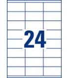 Boîte de 2400 étiquettes multiusages AVERY 3422 - 70 x 35 mm