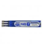 Set de 3 recharges pour stylo roller encre effaçable PILOT - Frixion Point - 0,25 mm