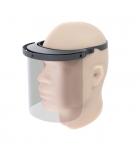 Visière protection amovible en PET tour tête 24 x 20 cm
