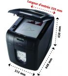 Destructeur de documentsREXEL Auto+ 100x coupe croisée 4 x 50 mm - 26 litres