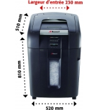 Destructeur de documents - REXEL - Auto+ 500X - coupe croisée 4 x 40 mm - 80 litres