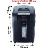 Destructeur de documents - REXEL - Auto+ 500M - coupe micro 2 x 15 mm - 80 litres