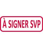 """Tampon - TRODAT- X printy - encrage automatique """"à signer svp"""""""