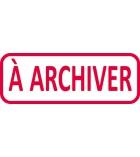 """Tampon - TRODAT- X printy - encrage automatique """"à archiver"""""""