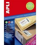 Boîte de 100 feuilles A4 - 1600 étiquettes adhésives logistiques - APLI - 105 x 37 mm