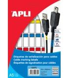 Pochette de 120 étiquettes de signalisation pour câble - APLI - 19,1 x 48,8 mm - assortiment