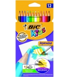 Boîte de 12 crayons de couleur - BIC KIDS - Aquacouleur
