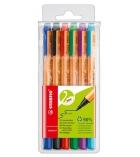 Pochette de 6 stylos feutres - STABILO - Greenpoint - pointe moyenne