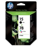 Pack 2 cartouches d'impression jet d'encre - HP - encre noire + encre 3 couleurs - SA310AE