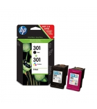 Pack 4 cartouches d'impression jet d'encre HP 700 pages - CR340EE - 301+301
