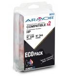 Pack 2 cartouches d'impression jet d'encre - compatibles neuves pour HP  - C8767E/C9363E