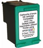 Cartouche d'impression jet d'encre - compatible recyclée pour HP - 3 couleurs - 170 pages - 351