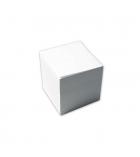 Bloc cube encollé - 100% recyclé - 9 x 9 x 9 cm - blanc