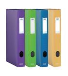 Lot de 12 boîtes de classement polypro - ELBA - Memphis - 24 x 32cm - dos 4cm - assortiment style