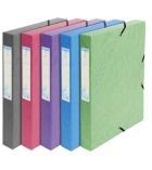Lot de 8 boîtes de classement - EXACOMPTA - Forever - dos 4 cm - coloris assortis