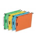 Paquet de 25 dossiers suspendus pour armoire - L'OBLIQUE - Velcro fond 15 mm - assortiment