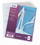 Paquet de 10 pochettes lisses perforées 9/100e - A4