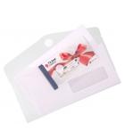 Sachet de 6 enveloppes - TARIFOLD - T Collection - format chéquier - avec velcro