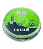 Pack de 10 DVD+RW 16x - MAXELL - 4,7 Go