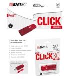 Clé USB 3.0 b100 - EMTEC - Click - 8 Go