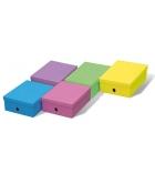 Lot de 5 boîtes de rangement grand modèle - FAST - couleurs assorties