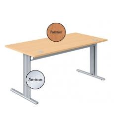 Table Defi+ 160 x 80 cm - pommier de France/alu