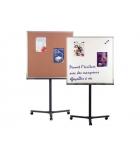Tableau double-face - 96 x 96cm - piètement mobile