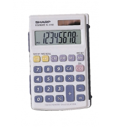 Calculatrice de poche SHARP El243B - 8 chiffres