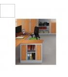 Armoire monobloc à rideaux 69 x 80 x 43 cm - Ariv - 1 tablette - blanc