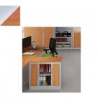 Armoire monobloc à rideaux 69 x 80 x 43 cm - Ariv - 1 tablette - alu/pommier de France