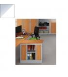 Armoire monobloc à rideaux 69 x 80 x 43 cm - Ariv - 1 tablette - alu/blanc