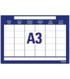 Pochette de 3 feuilles adhésives repositionnables et effaçables à sec - AVERY - 70707 -A3 calendrier