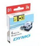 Ruban laminé DYMO D1 - 6 mm x 7 m - noir/jaune