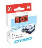 Ruban laminé DYMO D1 - 19 mm x 7 m - noir/rouge