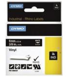 Ruban vinyl DYMO pour Rhino - 9 mm x 5,5 m - blanc/noir
